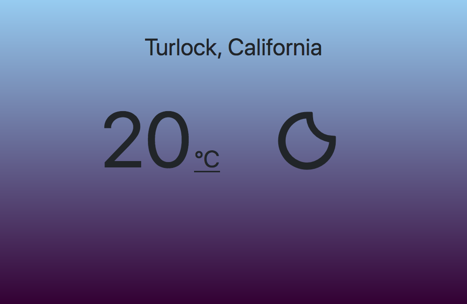 Weather app Celsius